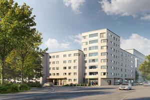 """Für die Realisierung des Wohngebäudes Saalburgallee hat die Ed. Züblin AG ein DGNB-Vorzertifikat """"Nachhaltige Baustelle"""" erhalten."""