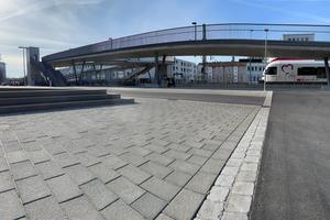 Das Bahnhofsquartier in Konstanz-Petershausen wurde mit dem Einstein-Pflastersystem befestigt.