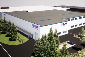 Mit einem Investitionsvolumen von ca. zehn Millionen Euro erweitert die Munk Group derzeit am Hauptsitz in Günzburg den Geschäftsbereich Munk Günzburger Steigtechnik.