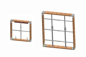 Der Hersteller bietet komplette Sets für Fenster und Türen in verschiedenen Größen an.
