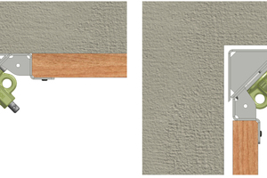 Mit den Ausschalecken lässt sich die Schalung leicht von der Wand lösen.