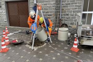 Das TIP-Verfahren ermöglicht es, aus den vorhandenen Schächten heraus zu arbeiten. Der Rohreinschub war in zwei Tagen abgeschlossen. Inklusive der vor- und nachbereitenden Arbeiten betrug die Bauzeit zwei Wochen.