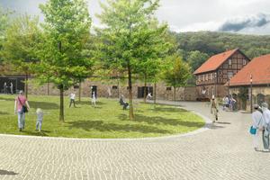 """Das Konzept des Klosters Michaelstein wurde auf die Gestaltung der Außenanlagen überführt: """"Ankommen – Verweilen – Erleben""""."""