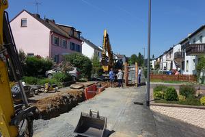 Bei der Erneuerung des Mischwasser-kanals in der Goethestraße in Bad Camberg hat sich der Auftraggeber für Fabekun-Kanalrohre entschieden.