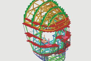Aus Gewichtsgründen musste die Konstruktion im Materialmix und in Leichtbauweise ausgeführt werden. Die Software Scia Engineer hatte bei der Statik- und Festigkeitsberechnung einen enormen Anteil.