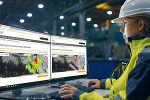 Mit Hilfe der Gefahrenkarte kann der Betreiber des Radladers Risikozonen am Werksgelände erkennen und Maßnahmen zur Unfallvermeidung ergreifen.