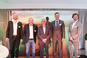 Der Branchentreff mit Søren Eiko Mielke Matthias Ressel, Jürgen Küspert, Marco Bokies und Dorian Kunert (v.l.n.r.).