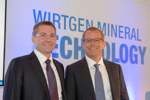 Haben für die nächsten Jahre umfangreiche Investitionen in den Bereich Wirtgen Mineral Technologies angekündigt: Stefan Wirtgen (li.) und Jürgen Wirtgen.