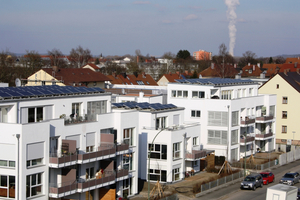 Mehr Platz für Mieter: Mehrgeschossige Ziegelhäuser kommen ohne zusätzliche Wärmedämmung aus. Dank schlanker Wände ermöglichen sie mehr Wohnraum auf weniger Fläche – ein Pluspunkt für den Wohnungsbau in dicht besiedelten Stadtgebieten.
