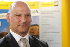 """Andreas Tiedmann, Zeppelin Baumaschinen GmbH: """"Für uns ist es selbstverständlich, dass wir in diesem Wettbewerb gerade die innovativ stärksten Bauunternehmen Deutschlands massiv unterstützen."""""""