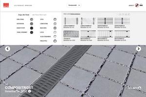 Der Multiline Rostkonfigurator ermöglicht es Planern und Architekten, Multiline Roste nach optischen Kriterien auszuwählen