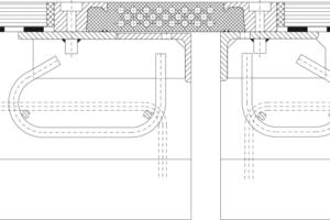 Prinzipdarstellung einer T-Matte – Typ T Straße <br />