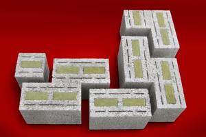 """Die """"Plan-Therm""""-Mauersteine von Jasto erreichen mit ihrem hohen Bimsanteil und der integrierten Dämmung niedrige Wärmeleitwerte von nur 0,09 bzw. 0,11 W/mK."""
