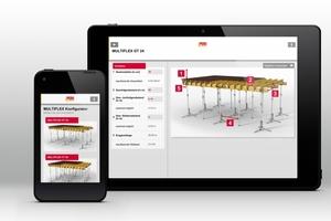Verschiedene Apps von Peri bieten schnelle und wertvolle Unterstützung im Baustellenalltag – darunter unter anderem der Multiflex Konfigurator, mit dem sich die Träger-Deckenschalung optimieren lässt