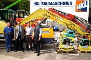 Immer nah beim Kunden: Die Mannschaft von HKL in Göppingen mit Niederlassungsleiter Nuspl, 2. von links. Von links nach rechts: Bräunle, Nuspl, Scherer und Düser<br />