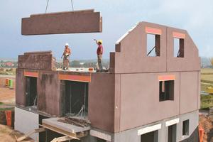 Rationelles Bauen und kurze Bauzeiten: Fertigelemente aus Leichtbeton werden im Werk mit hoher Qualität witterungsunabhängig hergestellt