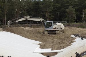 Den Einbau der Unterbodenzone realisierte die Köster GmbH auch im Bereich der Dränage Nord<br />