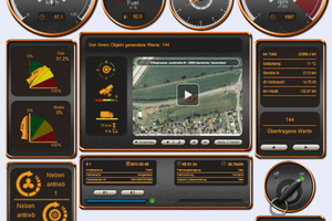 Die CAN-Bus-Liveansicht zeigt eine Auswahl an Daten, die Kiesel Telematik direkt an der Maschine abgreift