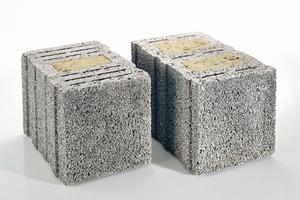 """Die KLB-Plansteine """"SK08"""" und """"SK09"""" sind jetzt auch in Wandstärken von 42,5 und 49,0 Zentimetern erhältlich. Gefüllt mit rein mineralischen Dämmstoff-Stecklingen ermöglichen sie den Bau von energieeffizienten Wohnhäusern bis hin zum Passivhaus-Standard."""