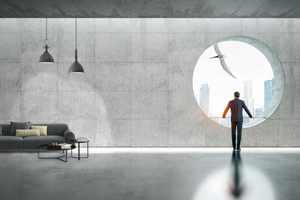 Lavanior Eliter eignet sich gut für große Wandflächen mit trendigen Oberflächenstrukturen aus Holz und Sichtbeton.