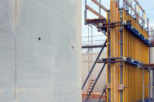 Beim Klinikum Osnabrück kommen rd. 350 m² Trägerschalung FF100 tec zum Einsatz