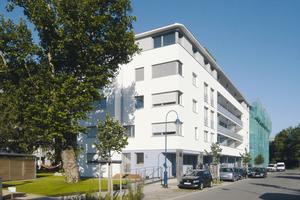 Das Projekt TriColore der Freiburger Stadtbau GmbH und der privaten Baugruppe Blau GbR mit 53 Wohneinheiten