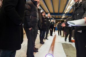 Die neu LED-Technik löst bei der Durchfahrung des getränkten Liners die Härtung aus