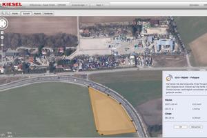 Geofencing: Verlässt eine Maschine die definierte Geozone (gelb), erhält der Maschinenbetreiber einen Alarm per E-Mail oder SMS