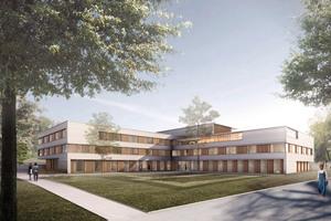 Lichtdurchflutet, großzügig gestaltet und mitten im Grünen: Im Mai 2015 geht die neue Klinik für Alterspsychiatrie am Zentrum für Psychiatrie Reichenau in Betrieb