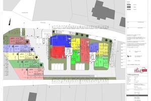 22 Eigentumswohnungen und 5 Reihenhäuser als KfW 70 Effizienzhäuser - barrierefrei gebaut (Grundriss EG)