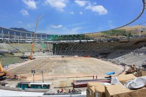 Großbaustelle in Rio de Janeiro – das Maracanã-Stadion befand sich hier noch im Bau
