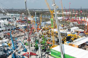 Vom 15. bis 21. April 2013 findet in München die bauma, 30. Internationale Fachmesse für Baumaschinen, Baustoffmaschinen, Bergbaumaschinen, Baufahrzeuge und Baugeräte, statt.  (Foto: Messe München, bauma 2010)