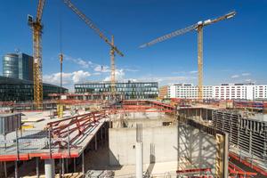 Mit dem Bürogebäude NOVE wird jetzt auch die letzte Baulücke im neuen Münchner Stadtquartier Arnulfpark geschlossen.