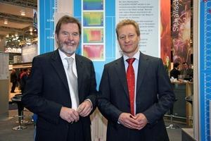 Der neue Geschäftsführer von Heidelberger Kalksandstein Martin Schneider-Jost (links) mit Christian Engelhard