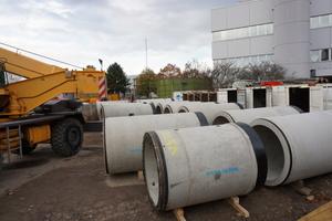 400 Stahlbetonvortriebsrohre wurden eingebaut und fachgerecht miteinander verbunden.