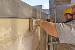 Reprofilierung der Schadstellen mit kunststoffmodifiziertem Zementmörtel