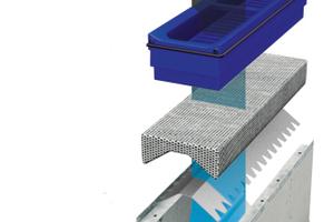 "Das <span class=""bildunterschrift_hervorgehoben"">modulare Innenleben der Filtrationsrinne BIRCOpur </span>besteht aus 3 Komponenten: Sedimentationsbox, Granulatfilterkissen, Leitblech."