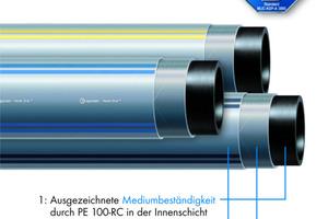 Das egeplast HexelOne Raised Pressure-System ist vom TÜV für den Einsatz für erhöhte Betriebsdrücke zertifiziert. Das werkstoffhomogene PE-Hochdruckrohr verfügt über 3 Funktionsschichten