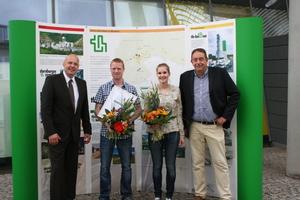 v.l.n.r.:Dipl.-Ing. Heiko Theuerkauf, Dipl.-Ing. Alexander Tasch, B.Sc. Luise Göbel, Prof. Dr.-Ing. Horst-Michael Ludwig