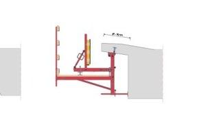 """Die Gesimskappenkonsole ist für horizontale und vertikale Einsätze konstruiert. Je nach Kappengeometrie werden die Konsolen an der Kragarmunterseite oder aber an der Widerlagerwand befestigt.<span class=""""bildunterschrift_hervorgehoben"""">Fotos und Grafik: Peri GmbH</span><br />"""