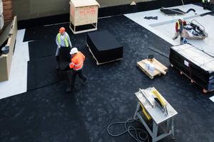 Die Einhaltung des Rasterplans durch Plattenware im Rastermaß bot Vorteile für das ausführende Bauunternehmen.