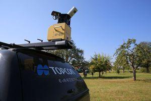 Dieses 3D-Datenerfassungssystem von Topcon liefert wertvolle Daten bei der Überfahrt.