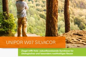 """Ökologischer Ziegel, vorbildliche Leistung: Eine Broschüre fasst alle wichtigen technischen Daten des neuen """"Unipor W07 Silvacor"""" in einer praktischen Übersicht zusammen.<br />"""