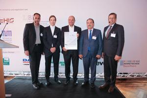 Sieger in der Kategorie Hochbau (kmU): Die K. Baumann Baugesellschaft aus Kolbermoor bei Rosenheim schaffte schon vor zwei Jahren den Sprung aufs Siegertreppchen.