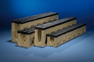 Mit vier unterschiedlichen Nennweiten und vier Bauhöhen sowie dem Zubehör, wie Stirnwänden, Einlaufkästen oder Übergangsstücken bietet Aco Tiefbau nicht nur ein leistungsstarkes, sondern auch überschaubares Linienentwässerungssystem.