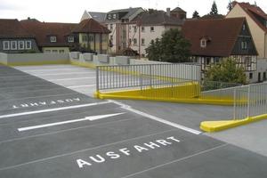 Die Parkflächen wurden zur Rissüberbrückung vliesarmiert mit dem Topdeck Abdichtungssystem Triflex PDS-T ausgeführt