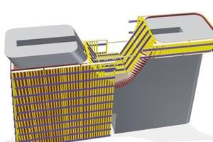 Ein detailliertes 3D-Modell bildete die Basis für die Planung der Sonderschalung aus dem Baukasten der Trägerschalung Top 50<br />