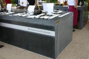 Die erste Open-Air-Küche, die es auf einer BUGA jemals gab, besteht aus witterungsbeständigen Betonsonderanfertigungen<br />
