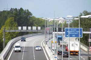 Nach der Sanierung: Der Verkehr fließt wieder sicher und störungsfrei über die Berliner Autobahn 100<br />