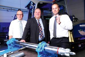 <strong>Die Geschäftsleitung der Tracto-Technik:</strong> Meinolf Rameil, Wolfgang Schmidt und Timotheus Hofmeister<br />